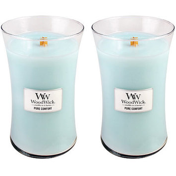 WoodWick Set of 2 Large Pure Comfort Candles