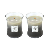 WoodWick Set of 2 Medium Trilogy Warm Woods Candles