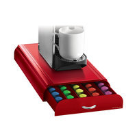 Mind Reader 50 Capacity Nespresso Capsule Drawer - Red