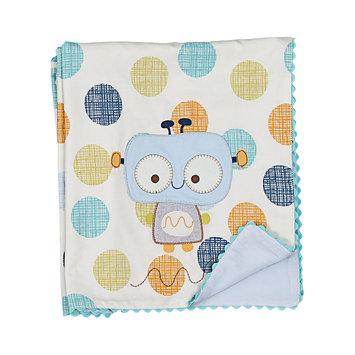 Living Textiles Lolli Living Baby Bot Cotton/ Velour Blanket - Bot Dot