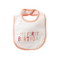 Carter's Baby Girls' My First Birthday Bib