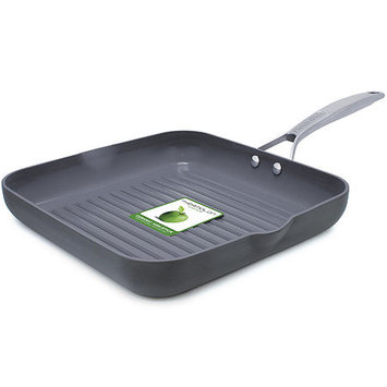 Green Pan GreenPan Hard Anodized Ceramic Grill Pan, 11