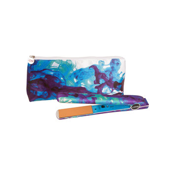 Chi Appliances iCHI Blue Nile Watercolor Flat Iron with Travel Bag