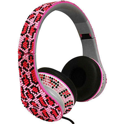 Esi Bling Rhinestone Stereo Headphones