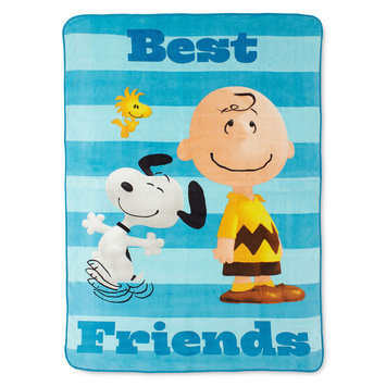 Jay Franco & Sons Peanuts Bed Blanket - Blue (60