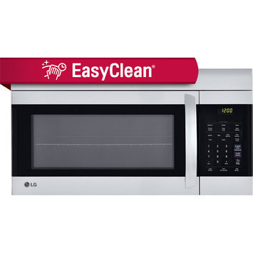 LG LMV1762SB 1.7 cu. ft. Over-the-Range Microwave with 1,000 Watts, 300 CFM Exhaust, 10 Power Levels, 8 Auto Cook Options, Add 30 Seconds Button, EasyClean Interior and Child Lock: Smooth Black