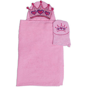 Asstd National Brand Princess Hooded Towel and Wash Mitt Set
