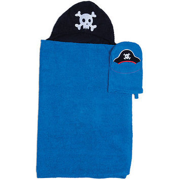 Asstd National Brand Pirate Hooded Towel and Wash Mitt Set