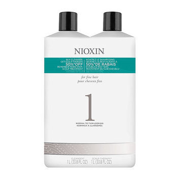 Nioxin System 1 Cleanser and Scalp Therapy Set - 33.3 oz. each