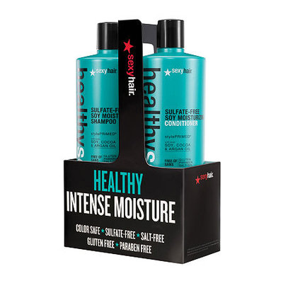 Healthy Sexy Hair Soy Moisturizing Shampoo and Conditioner Set - 33.8 oz. each