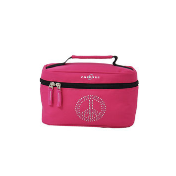 O3 USA O3 Kids Toiletry and Accessory Train Case Bag - Bling Rhinestone Peace