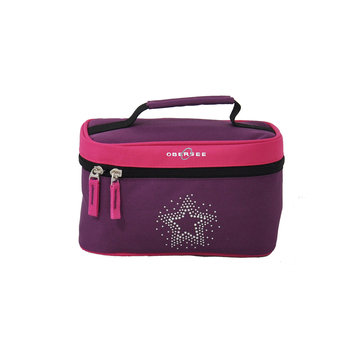 O3 USA O3 Kids Toiletry and Accessory Train Case Bag - Bling Rhinestone Star