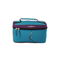 O3 USA O3 Kids Toiletry and Accessory Train Case Bag - Turquoise Butterfly