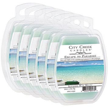 Asstd National Brand City Creek Candles Set of 6 Wax Melts - Escape To Paradise