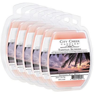 Asstd National Brand City Creek Candles Set of 6 Wax Melts - Tahitian Sunrise