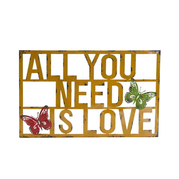 J.c.penney All You Need is Love Metal Wall Decor