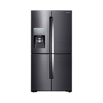 Samsung RF28K9380SG 36 Inch 4-Door French Door Refrigerator with 28 cu. ft. Total Capacity, 4-Temperature FlexZone Compartment, Food Showcase Door, Glass Shelves, Gallon Door Bins, 2 Produce Drawers, Freezer Drawers, Ice Master Ice Maker and External Water/Ice Dispenser: Bla