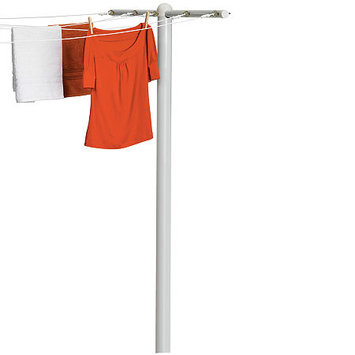 Honey Can Do DRY-01452 5 Line Inground T-Post Dryer