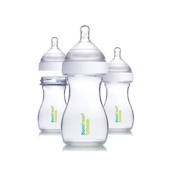 Born Free Breeze 3-Pack Bottles in Clear