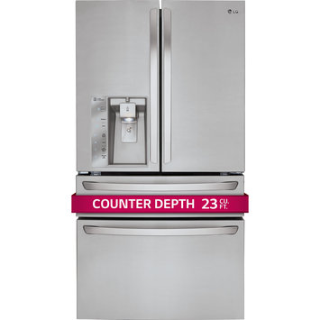 LG LMXC23746D Diamond Collection 22.7 Cu. Ft. Slate French Door Refrigerator - Energy Star
