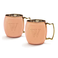 Personalized Moscow Mule Copper Mug w/ Unique Handle