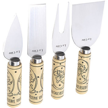 Asstd National Brand La Cote 4-Piece Cheese Knife Set