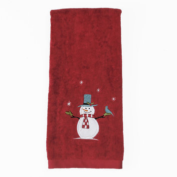 Saturday Knight Friendly Snowman Hand Towel