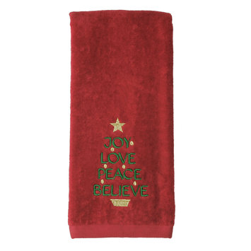 Saturday Knight Joy Love Peace Hand Towel