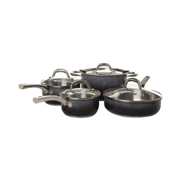 Kohls Simplemente 8-pc. Stainless Steel Cookware Set (Black)