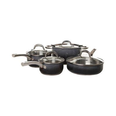 Kohls Simplemente 8-pc. Stainless Steel Cookware Set (Black)