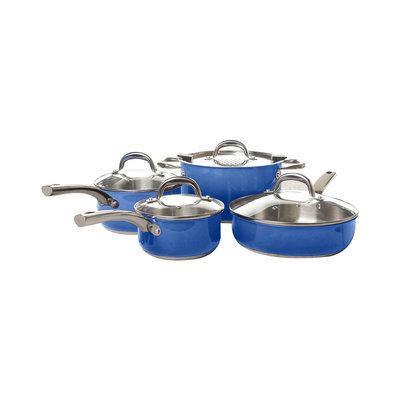 Kohls Simplemente 8-pc. Stainless Steel Cookware Set (Blue)