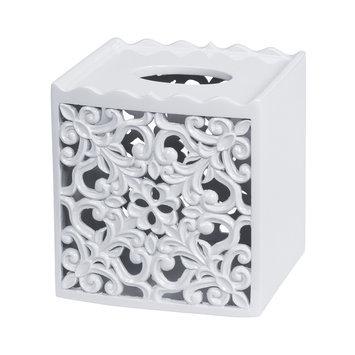 Creative Bath Belle Tissue Box Cover (White)