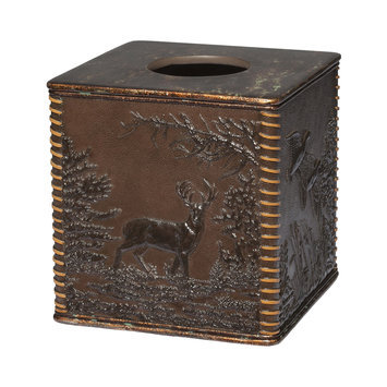Creative Bath Hautman Brothers Rustic Montage Tissue Box Cover (Brown)