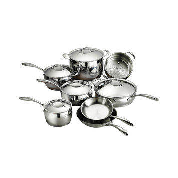 Tramontina Usa Inc. Tramontina Gourmet Domus 18/10 Stainless Steel Tri-Ply Base - Induction-Ready 13 Pc Cookware Set