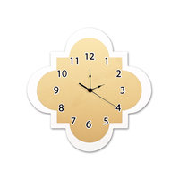 Trend Lab Gold Quatrefoil Wall Clock