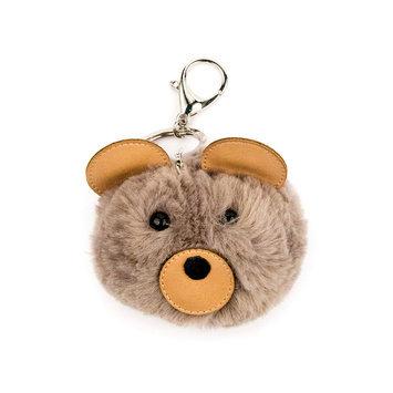 Carole Fuzzy Bear Keychain