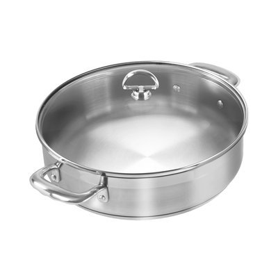 Chantal Induction 21 Cookware 5-qt. Sauteuse with Glass Lid
