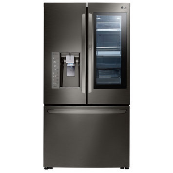Lg LFXC24796D Counter Depth French Door Refrigerator with 24 cu. ft. Capacity in Black Stainless