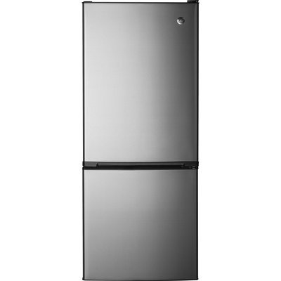 GE GBE10ESJSB 10.5 Cu. Ft. Stainless Steel Bottom Freezer Refrigerator - Energy Star