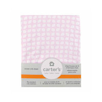 Carter's Fitted Woven Crib Sheet - Pink Tile