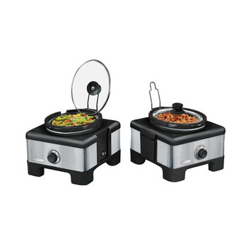 Bella Linkable Serve & Store Double Slow Cooker System