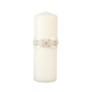 Ivy Lane Design Wedding Accessories Pillar Candle, Adriana, White, 9
