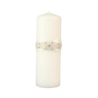 Ivy Lane Design Wedding Accessories Pillar Candle, Adriana, White, 9