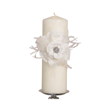 Ivy Lane Designs Ivy Lane Design Somerset Collection Unity Candle, 3 by 9-Inch Pillar, Ivory