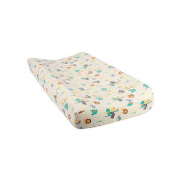 Trend Lab Llc Trend Lab Lullaby Jungle Flannel Changing Pad Cover