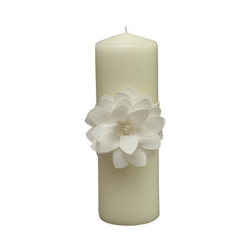 Ivy Lane Design Water Lily Pillar Candle