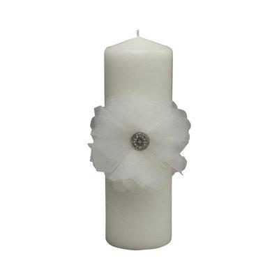 Chloe White Pillar Candle