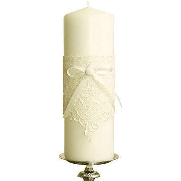 Ivy Lane Design Vintage Lace Pillar Candle