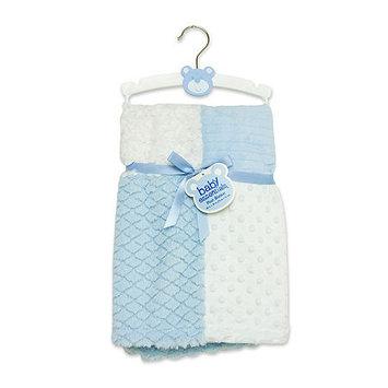 Baby Essentials Blue Patchwork Plush Blanket