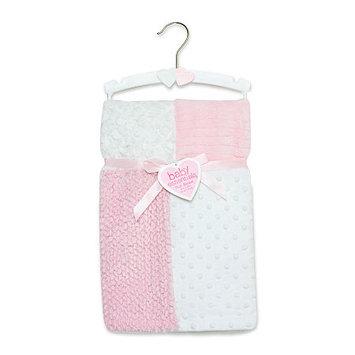 Baby Essentials Pink Patchwork Plush Blanket